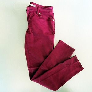 Mossimo Supply Co. Denim - Maroon skinny jeans