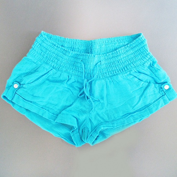 Old Navy Shorts - Teal Linen Shorts