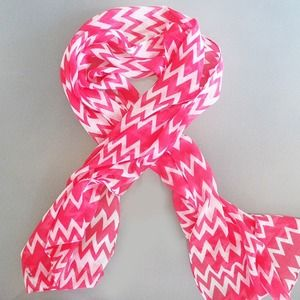 Accessories - Watermelon chevron scarf