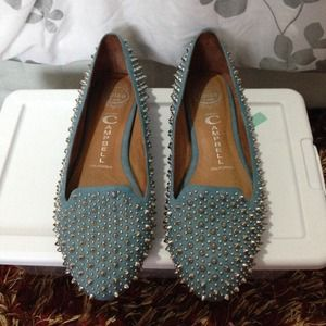 Jeffrey Campbell studded flat shoes