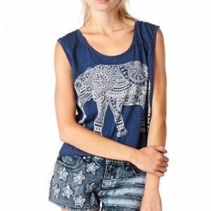 Elephant crochet back tank