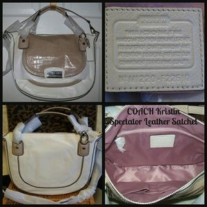 (NEW) COACH Kristin Spectator Leather Satchel Hobo
