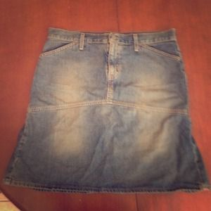 Jean skirt with a little flare