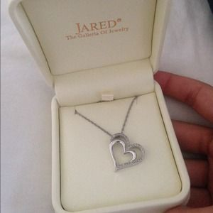 75 off Jared Jewelry Heart Necklace Poshmark