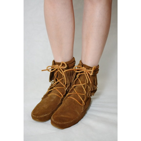 Double Fringe Suede Tramper Boots O3WWzJZr