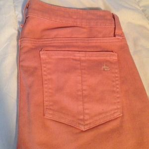 rag & bone salmon colored skinny sz 28