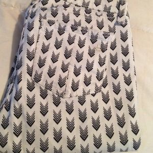 rag & bone arrow print jean sz 27