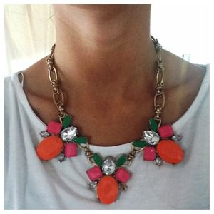 Triangle Multicolor Summer Statement Necklace