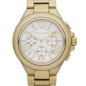 NWT Michael Kors Gold 'Camille' Chronograph Watch