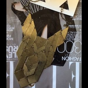 NWT Urban Outfitters Burnished Gold Bib Necklace