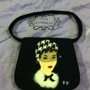 Lulu Guinness black evening purse.