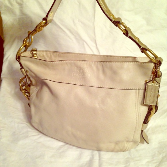 Coach - Gorgeous cream and gold Coach Hobo bag from Erin's closet ...
