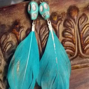 Jewelry - SKULL EARRINGS NEVER BEEN WORN