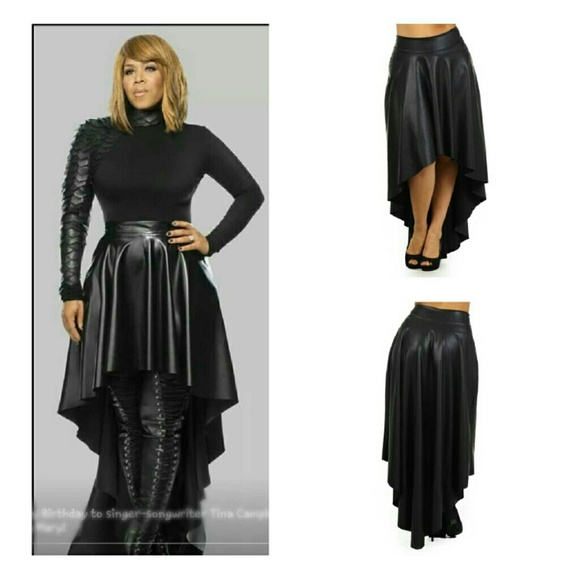 Faux leather hi lo skirt Avail sizes 1x, 2x & 3x from Sky's closet ...