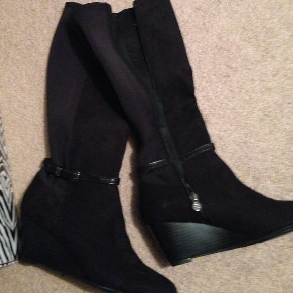 35 Off Dana Buchman Shoes Sale Black Knee High Boots