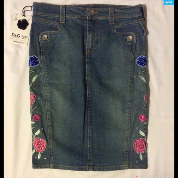 9778f0ab3f2 Dolce & Gabbana Skirts | Dolce Gabbana Limited Edition Denim Skirt ...