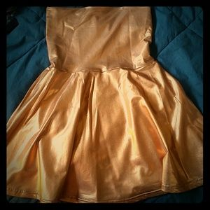 American apparel gold dress