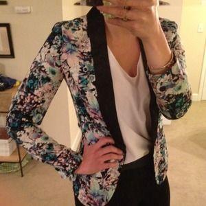 RESERVED: LC Lauren Conrad Floral Tuxedo Blazer