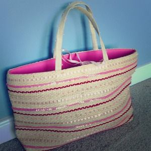 Summer Tompkins straw tote