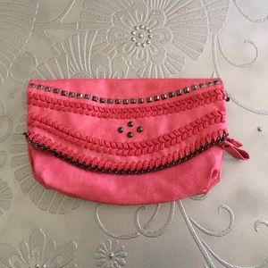 Fuchsia Oversized Clutch