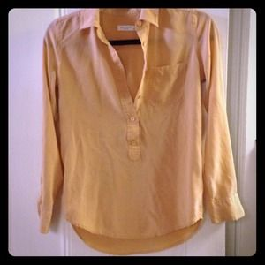 Equipment silk blouse in peach