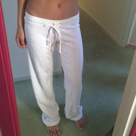 Juicy Couture Pants - Juicy couture white terry cloth pants XS 1c22f45618f9