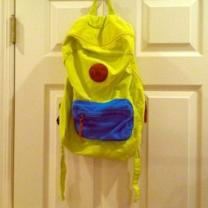 Neon Yellow Cotton On Super Lightweight Backpack