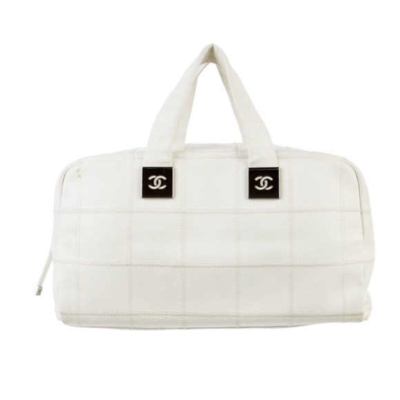 black and white chanel bags. authentic white chanel boston stitch bag black and bags