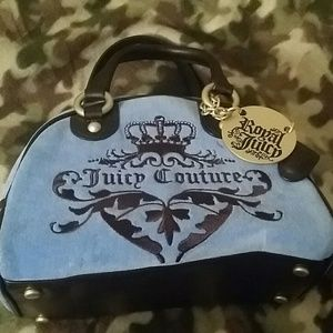 Juicy Couture velour Crest Bowler handbag