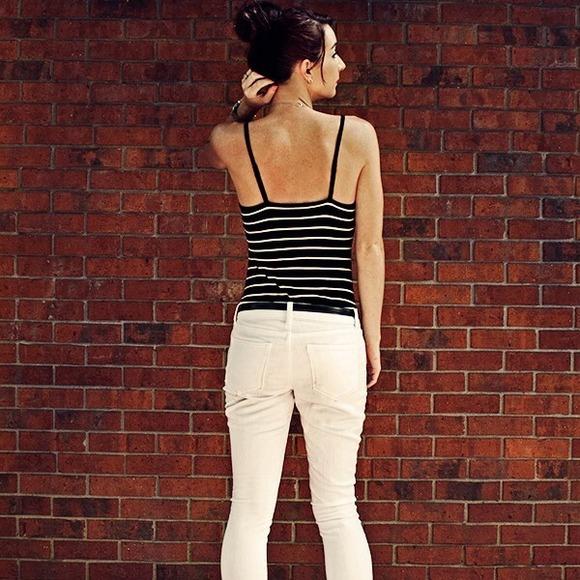Forever 21 Tops - Striped bodysuit