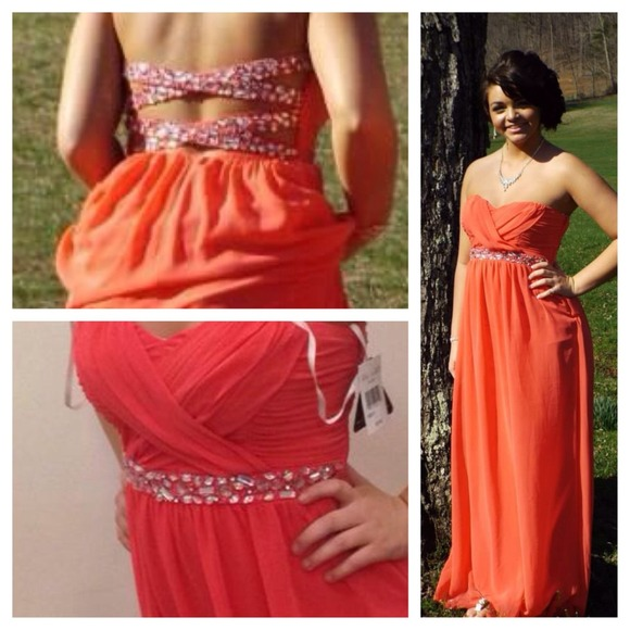 Coral Dresses with Criss Cross