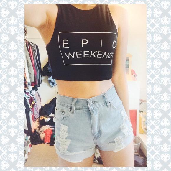EPIC WEEKEND crop top