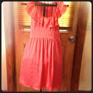 Coral 100% polyester dress