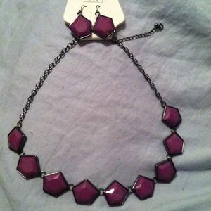 Jewelry - Purple stone set
