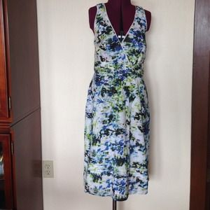 Jonathan Martin Watercolor Lace Halter Dress 14