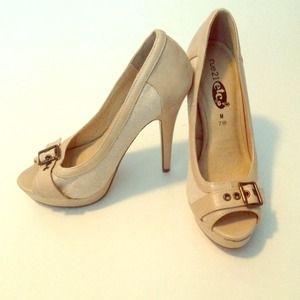 Brand new!!! Beige/nude/tan peep toe heel.