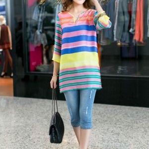 Cloud 9 Dresses & Skirts - Bold Striped tunic mini NEW