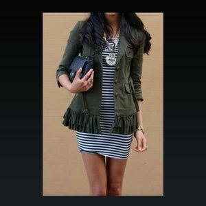 ICON Dresses & Skirts - SALE Nautical Blue & White Striped BODYCON Dress