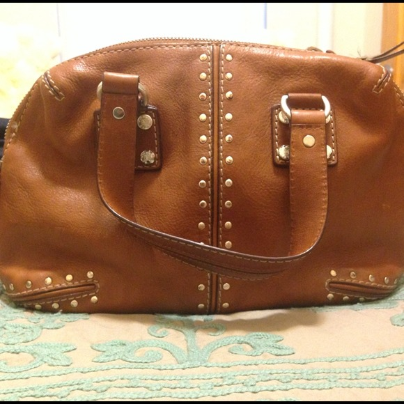 79% off Michael Kors Handbags - Michael Kors tan leather studded ...