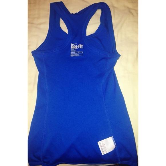 Dri-Fit Nike workout tank top in royal blue XS