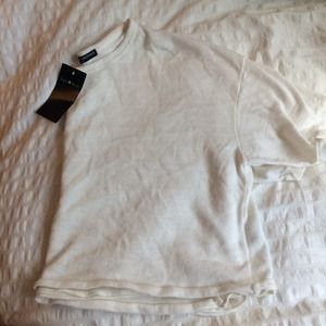 Brandy Melville cream knit crop top