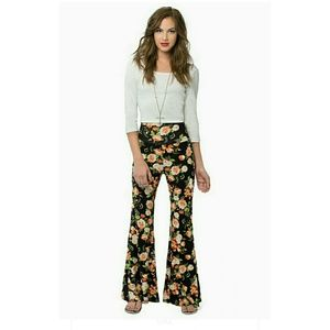 Flared pants floral bells