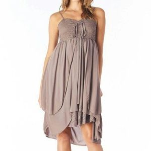 Awesome hanky lace asymmetric dress