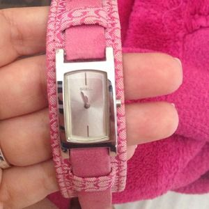 Pink guess watch