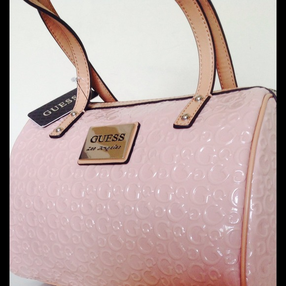 54% off Guess Handbags - GUESS BLUSH PINK PATENT BAG from ! 💕@t's ...