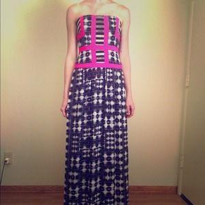 Long Strapless Dress