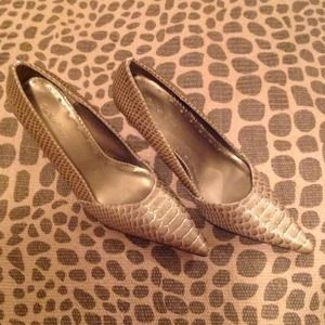 Reptile Print High Heels, Size 8