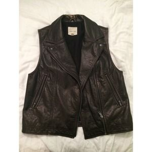 UO Silence + Noise Faux Leather Vest