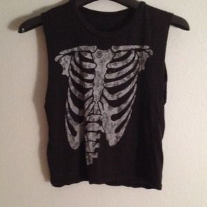 Brandy Melville Tops - Skeleton Muscle Tee