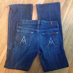 "7 for all mankind jeans ""A"" pocket size 26"